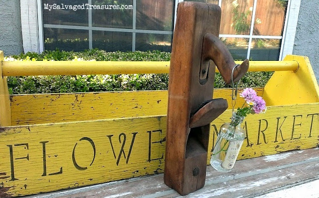 stenciled handmade tool carrier