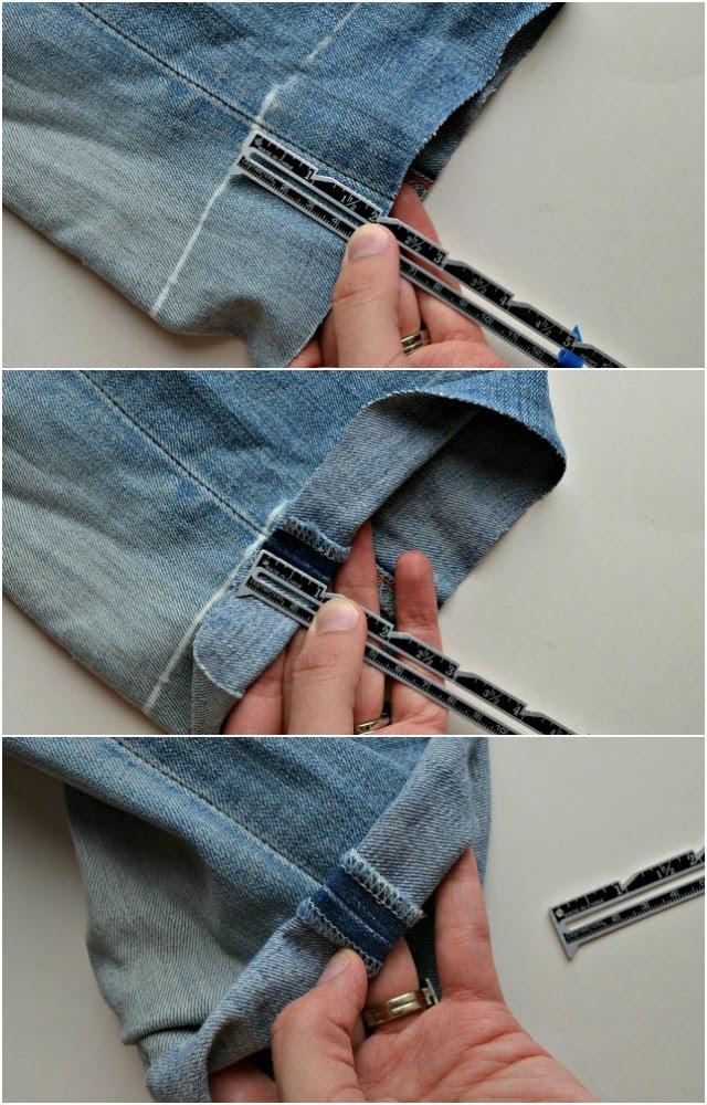 How tu cut pants to shorts