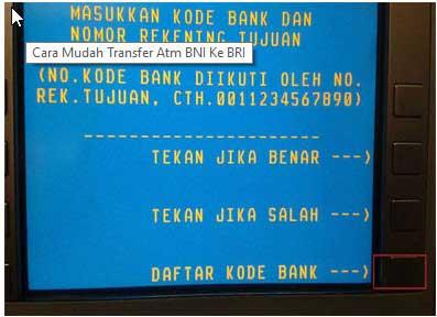 Daftar Kode Bank Lain