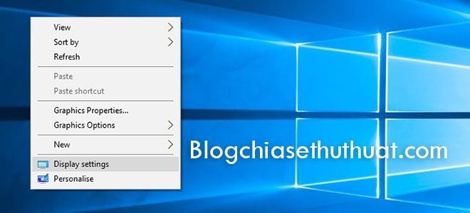 Hướng dẫn thay đổi độ phân giải màn hình (Screen resolution) Windows 10