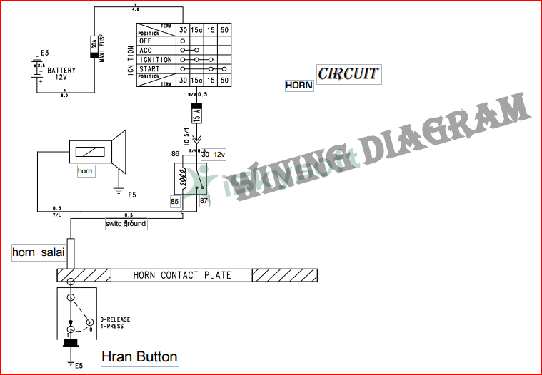 sana motors: car horn wiring diagram on