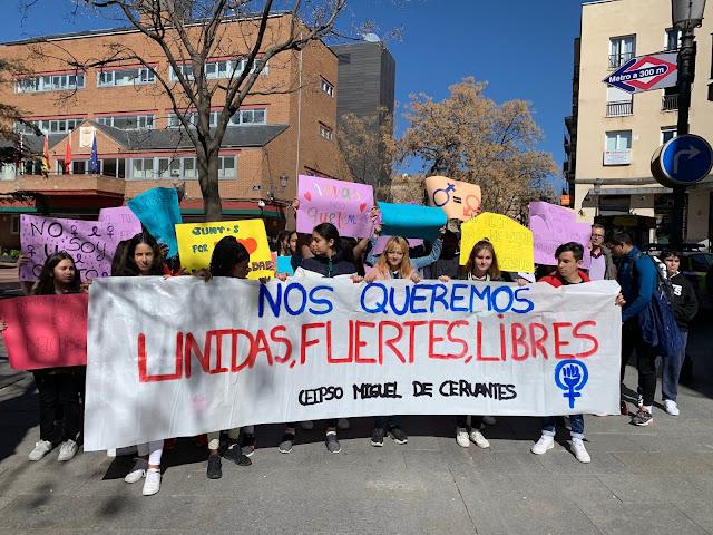 Resultado de imagen de manifestación feminista ceipso cervantes