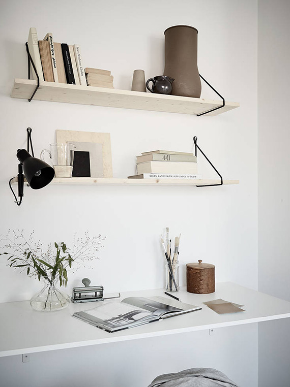 Simple home office via Stadshem