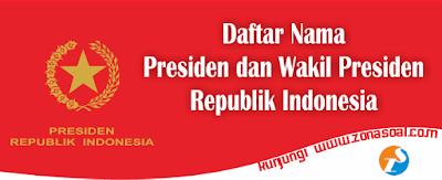 Daftar Nama Presiden dan Wakil Presiden Indonesia Lengkap