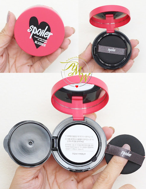 a photo of Tony Moly Spoiler Mini Cushion Blusher Pink Fantasy and Rose Coral_AskMeWhats