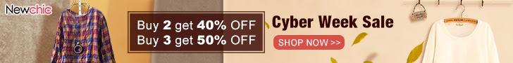 Cyber Week Sale! 40% Off 2+ Pcs, 50% Off 3+ Pcs