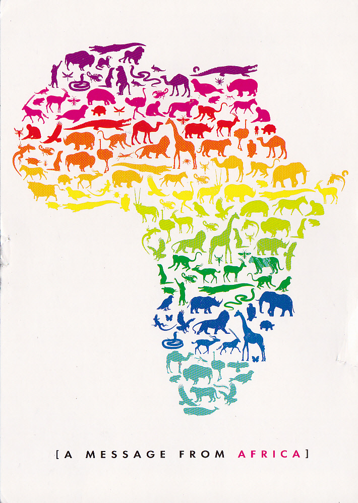 Map Outline Of The African Continent With Animal Icons Thanks To Bruce South Africa