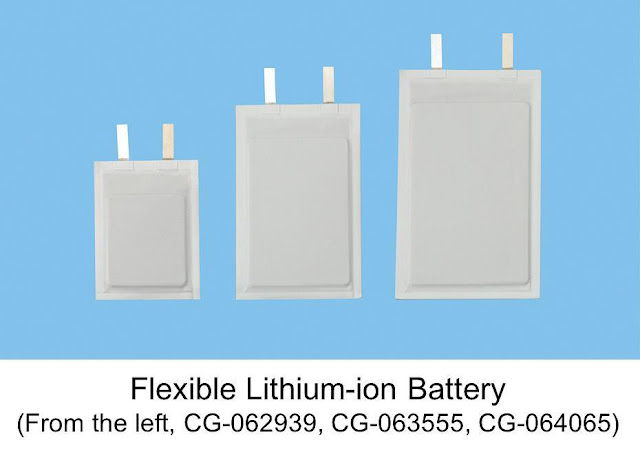 Baterai Lithium-ion Panasonic Fleksibel Super Tipis