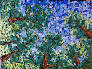 tree smalti mosaic looking up ireland trees forest blarney castle finished orsoni.