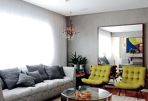 cinza na decoração da casa