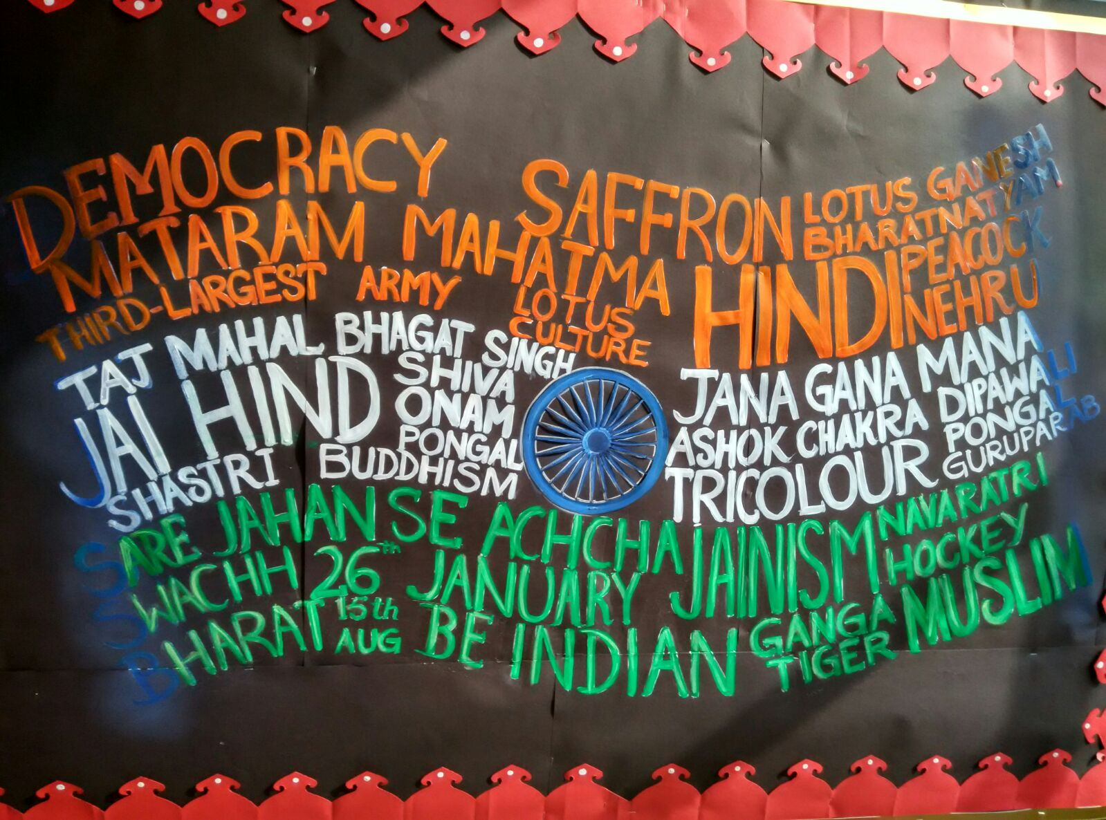 Republic Day Display Board Decoration Ideas For School
