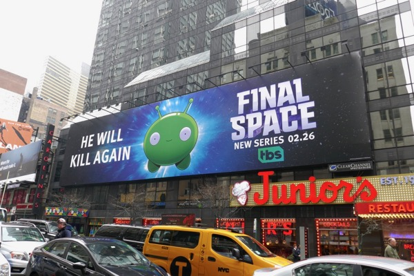 Final Space series billboard Broadway NYC