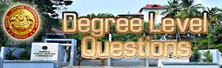 Kerala PSC Degree Level Previous GK Questions  - 3
