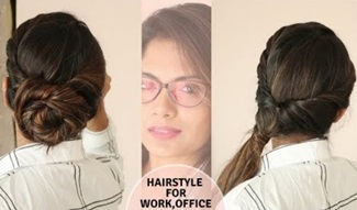 3 Easy Hairstyle For Office ,Work | Self Hairstyle | No Teasing | No Hairspray