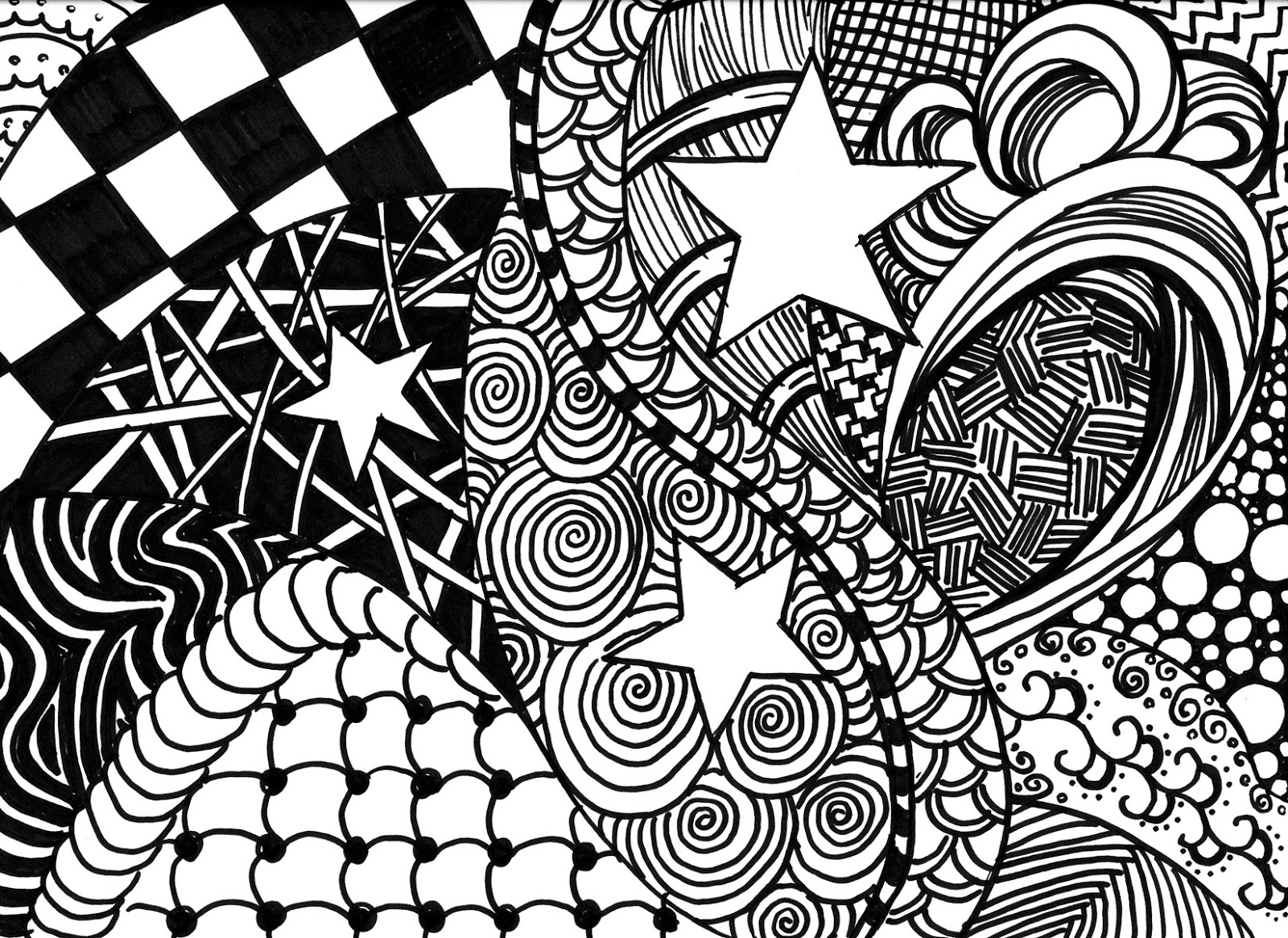 Zentangle Patterns Easy Cool Design