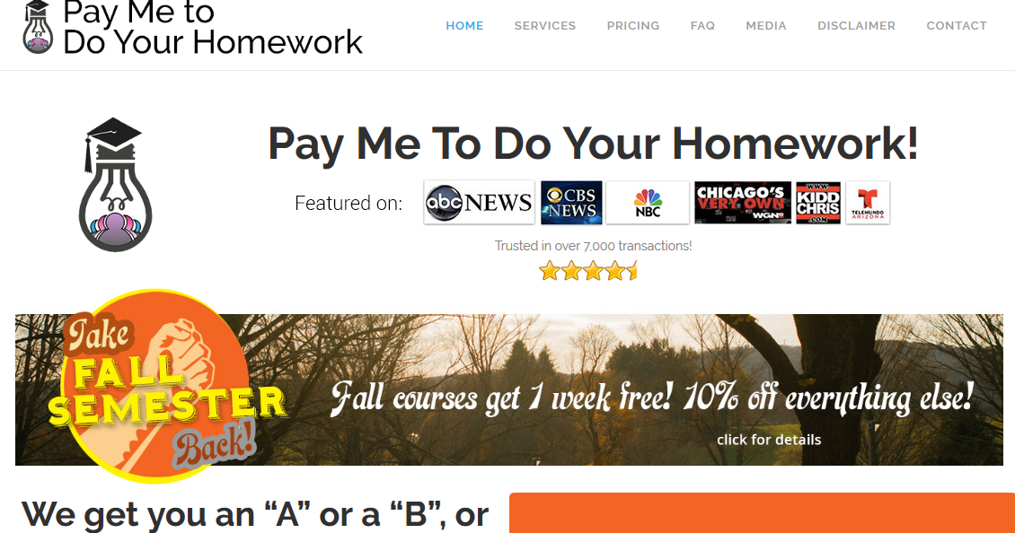 Pay to do homework online