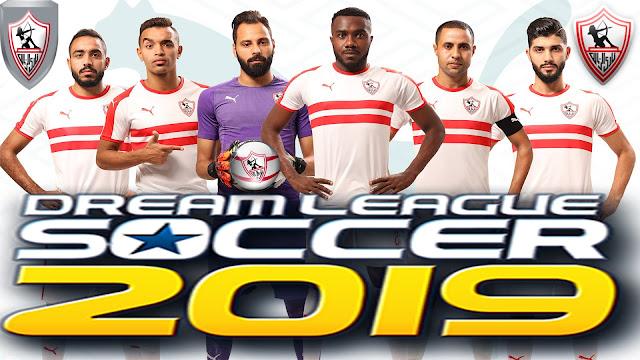 اخيرا حمل dream league 2019- نادي الزمالك  بأخر الانتقالات والتشكيل الأساسي للقمة  والقمصان والشعار الاصلي