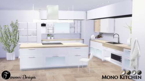 my sims 4 blog mono kitchen set by foreverdesigns. Black Bedroom Furniture Sets. Home Design Ideas