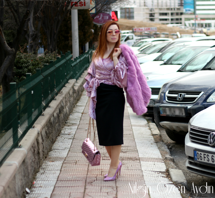 mor kürk montlar-fashion blogger-moda blogları-moda blogu-fur coat