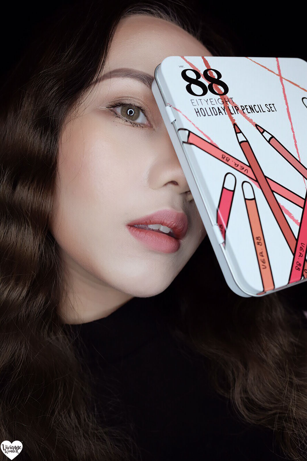 One Brand Make Up Review Ver88 X Viviennewonder Eighty Eight Holiday Lip Pencil Set