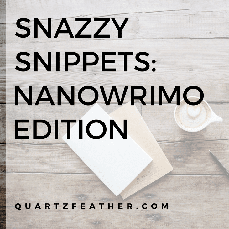 NaNoWriMo Edition Snazzy Snippets