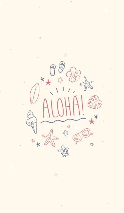 Hawaiian Aloha (ivory.)