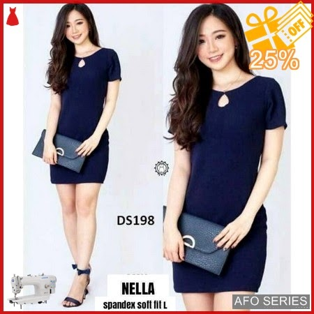AFO443 Model Fashion Dress Nella Modis Murah BMGShop