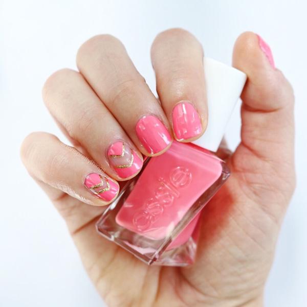 Essie Signature Smile - Negative space summer mani - Tori's Pretty Things Blog