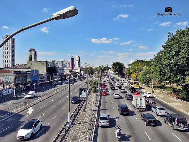 Vista de parte da Avenida Alcântara Machado (Radial Leste) - Trecho Mooca - São Paulo