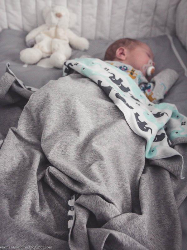Vauvan torkkupeitto, trikoopeitto, Nosh Elefantit