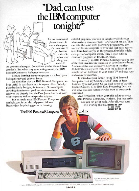 IBM 5150 PC advertising (boy)