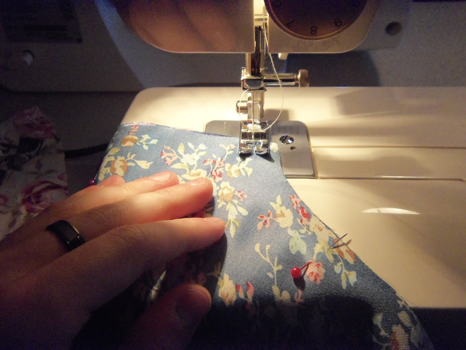 Sewing right sides together
