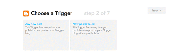 automatically publish new Blogger post using IFTTT