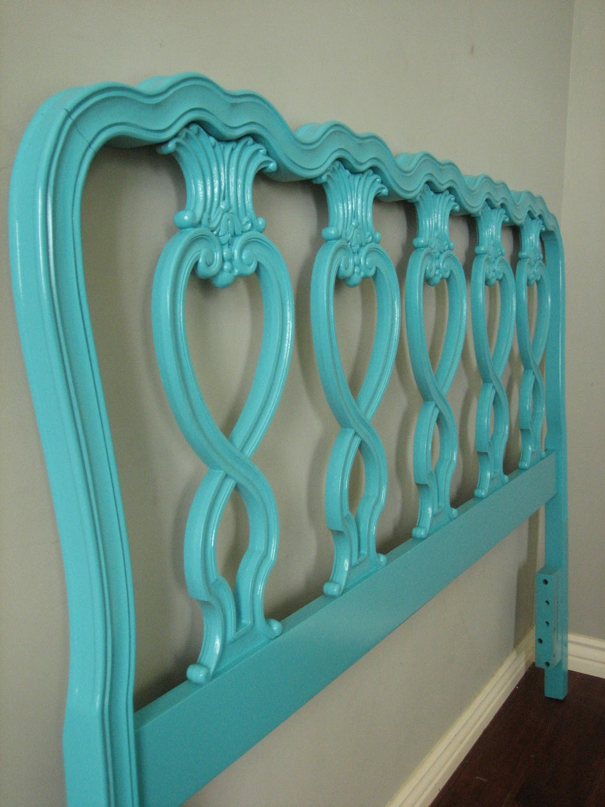 European Paint Finishes French Vanity And Teal Headboard