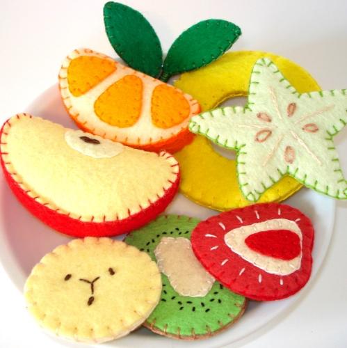 Hacer Frutas De Fieltro Manualidades Para Ninoshacer Manualidades - Manualidades-con-frutas-para-nios