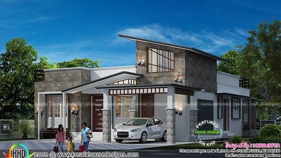 Contemporary modern single floor house