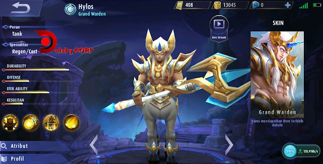 Mobile Legends : Hero Hylos ( Grand Warden ) Tanker Builds Set up Gear