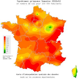 Grippe: toute la France touchée par l'épidémie