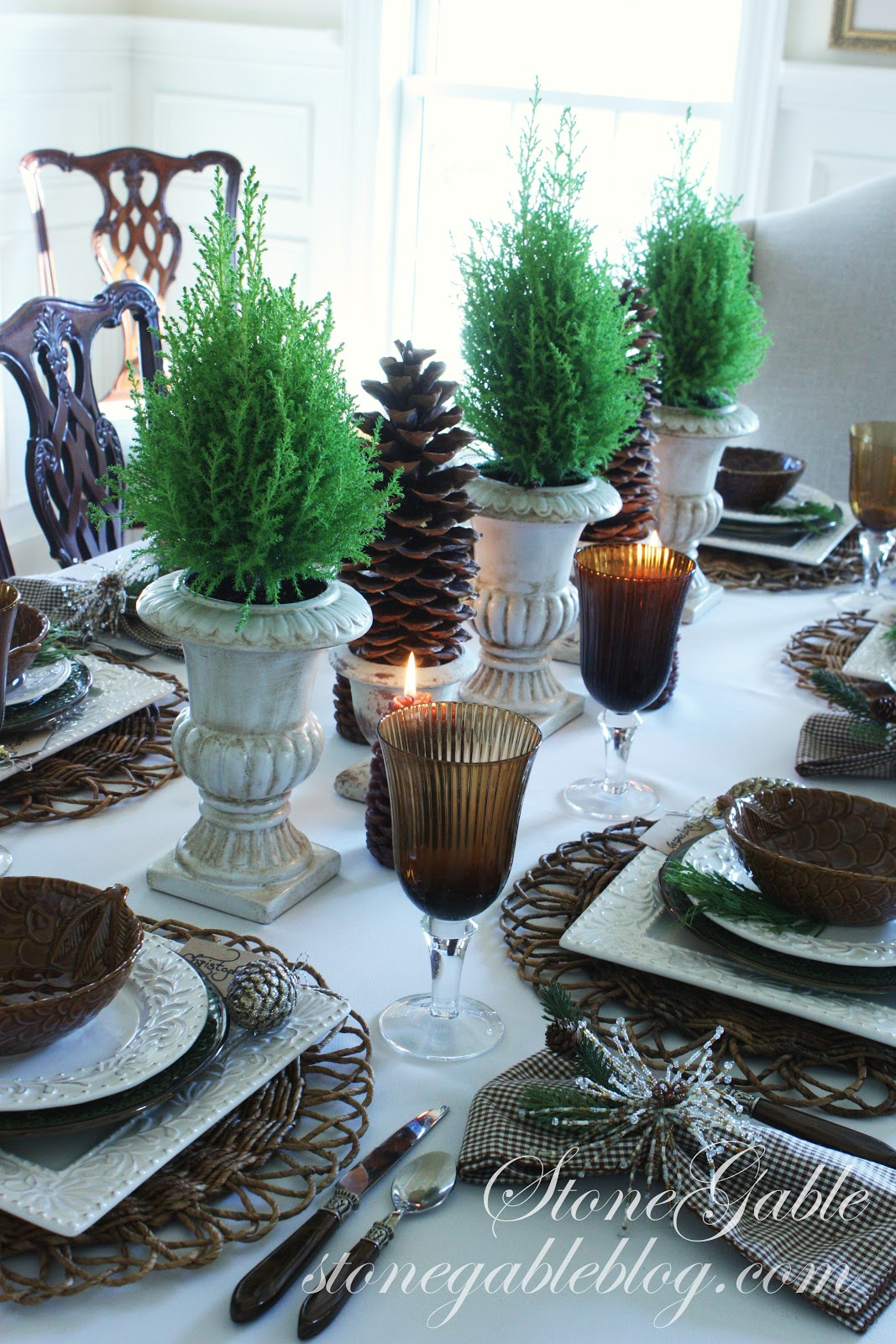Homespun Christmas Linky Party Recipes And Tablescapes