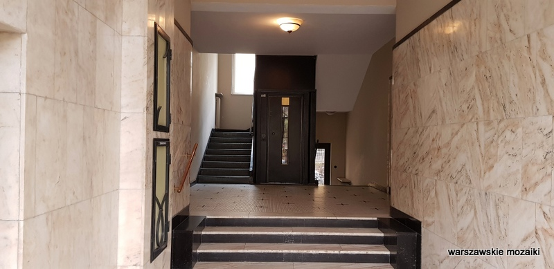 Warszawa Warsaw Śródmieście kamienica warszawskie ulice Gelbard Sigalin Pniewski Szanajca lata 30 architektura klatka schodowa