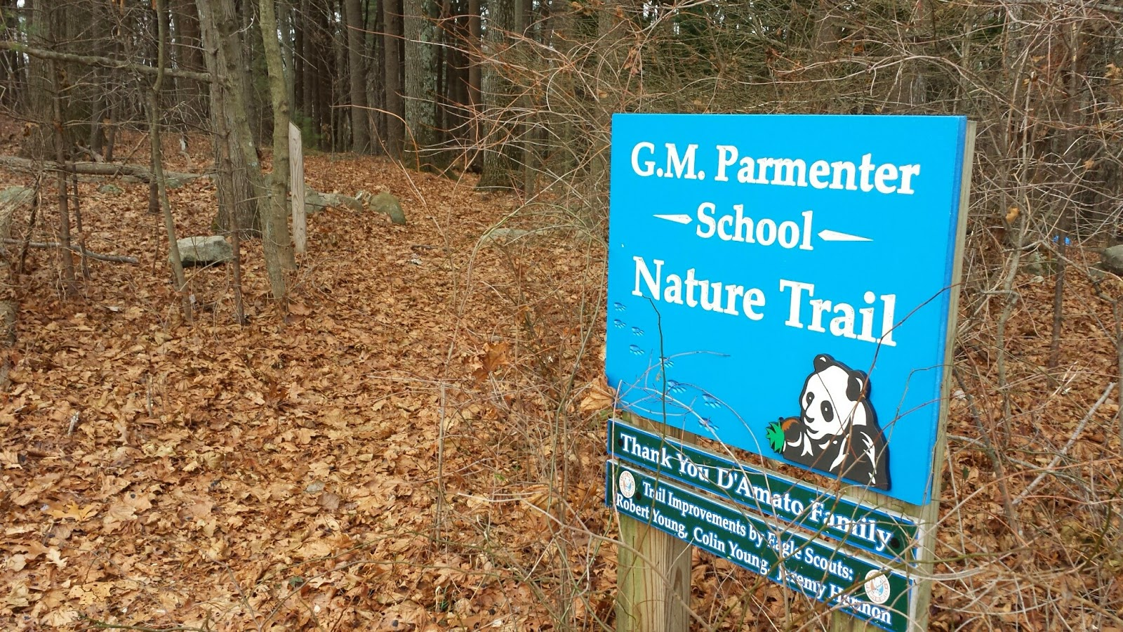 Parmenter Nature Trail entrance