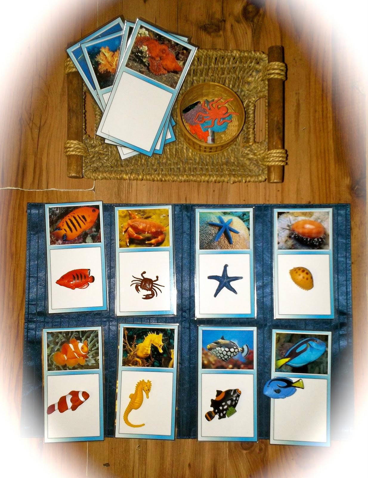 The Helpful Garden Montessori Ocean Animals Matching Game