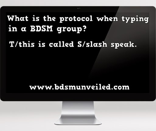 BDSM Slash speaking