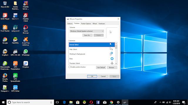 Cara Mengubah Model atau Tampilan Kursor pada Windows
