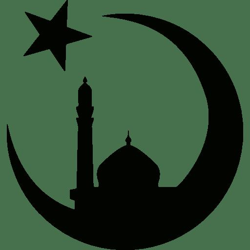 Gambar Ikon Masjid Image Icon Mosque Hitam Putih Alif Mh