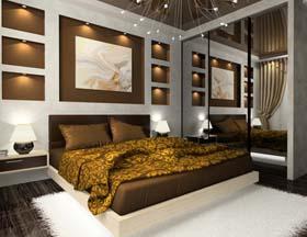 Schlafzimmer Farblich Gestalten Braun | Minimalistische Haus Design Schlafzimmer Farbig Gestalten