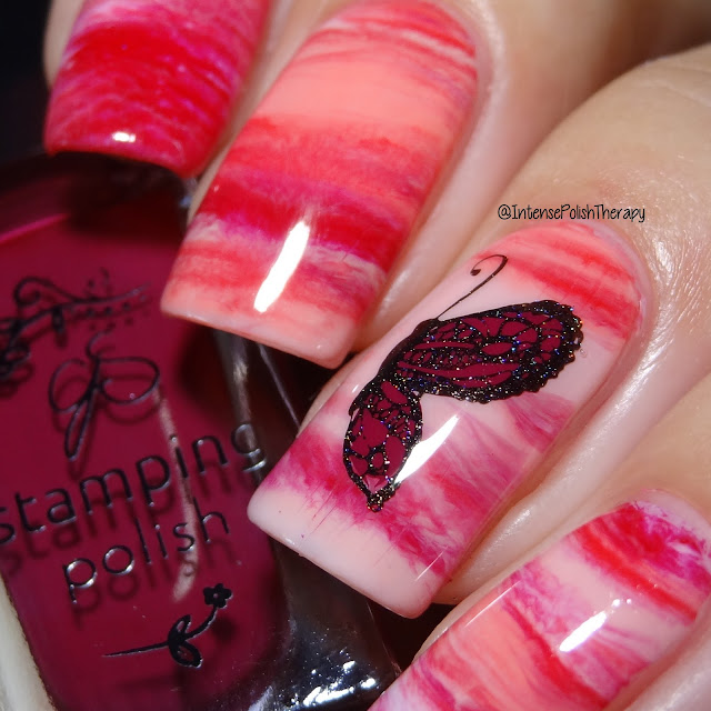 Clear Jelly Stamper Butterfly Manicure