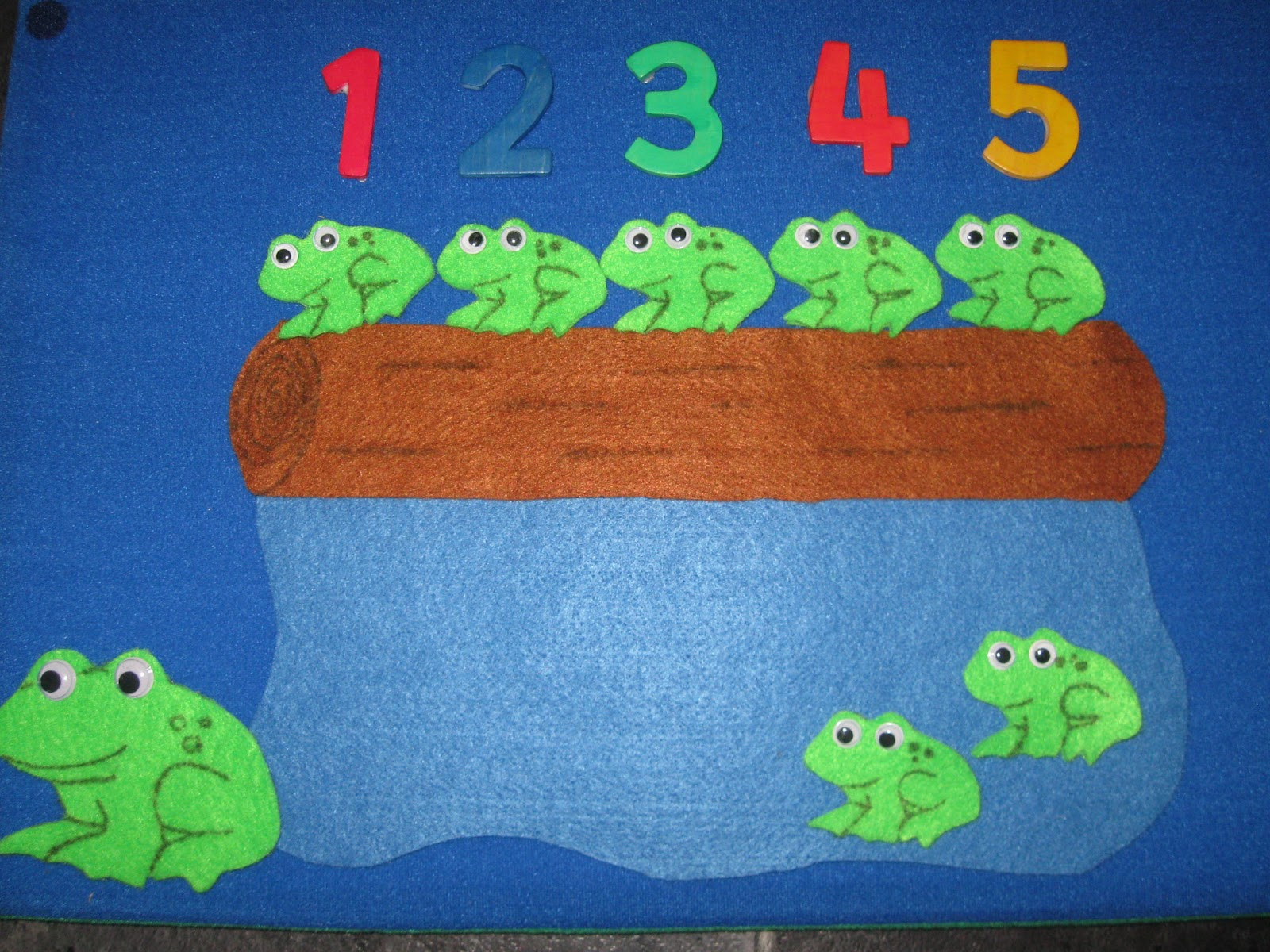 Five Green Amp Speckled Frogs Felt Story Flannel Board Set