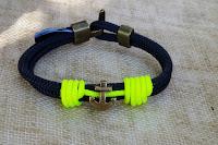 Pulsera náutica ancla flúor - Nautical Anchor  bracelet