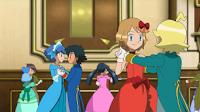 Ash y serena bailando
